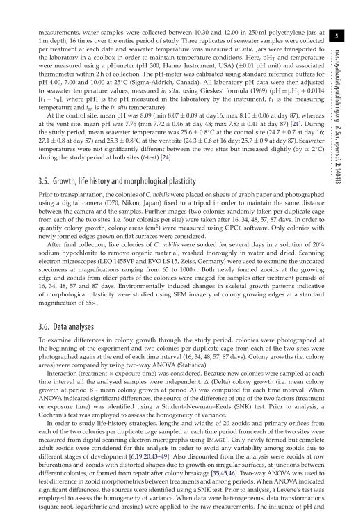 Growth, life history and morphological plasticity   Page 6