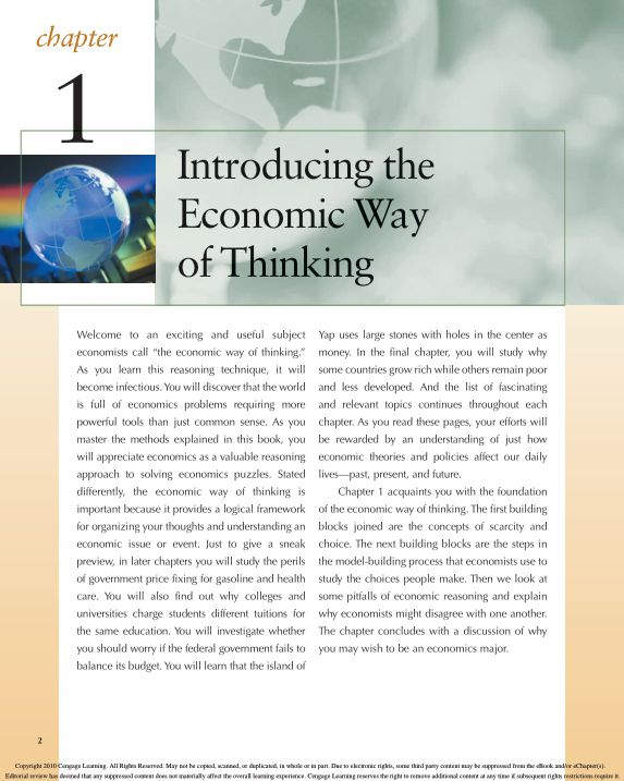 CHAPTER 1: Introducing the Economic Way of Thinking | Page 7