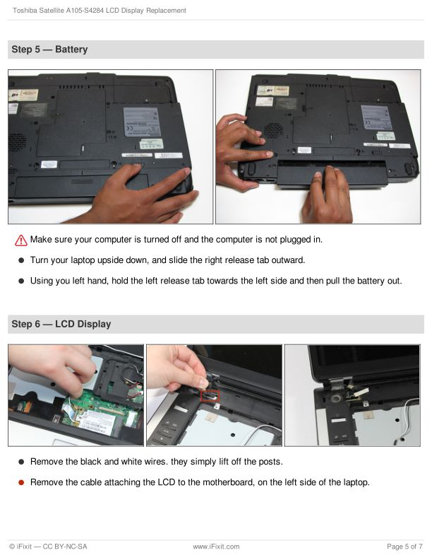 Step 5 — Battery   Page 6