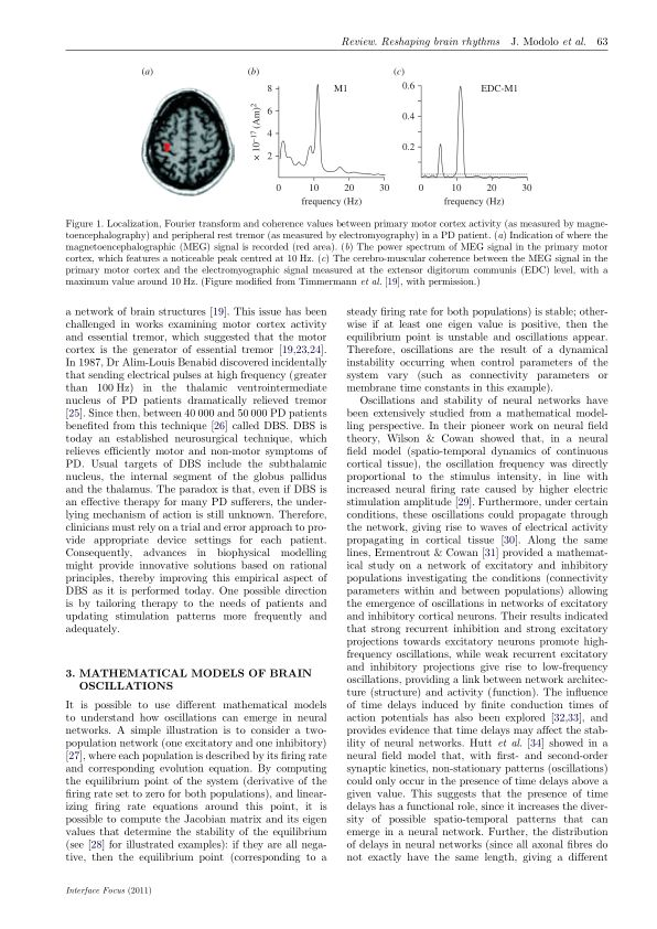 Mathematical models of brain oscillations | Page 1