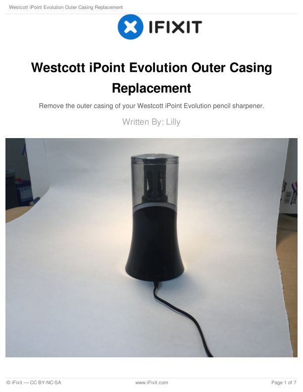 Westcott iPoint Evolution Outer Casing Replacement