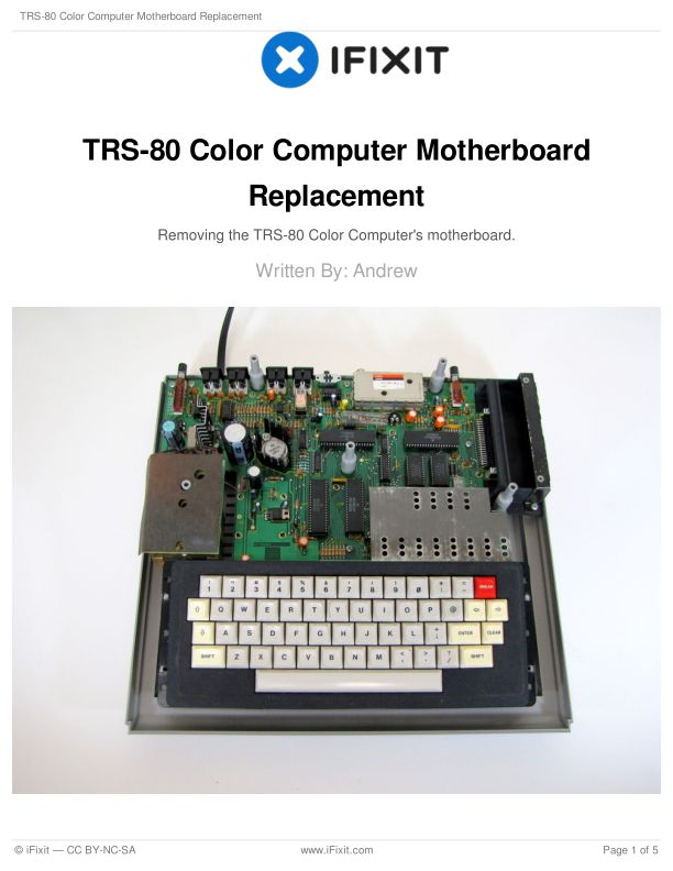 TRS-80 Color Computer Motherboard Replacement