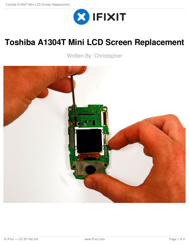 Toshiba A1304T Mini LCD Screen Replacement