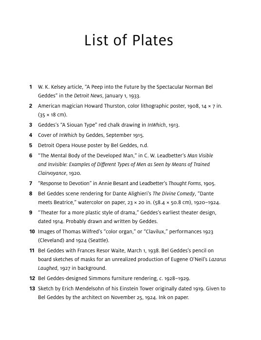 List of Plates | Page 3