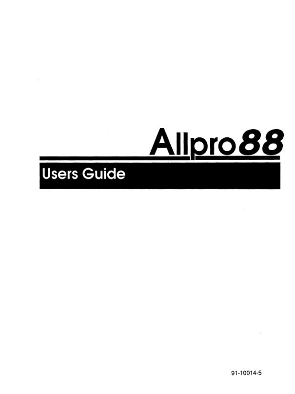 91-10014-5_Allpro_88_Users_Guide_1990