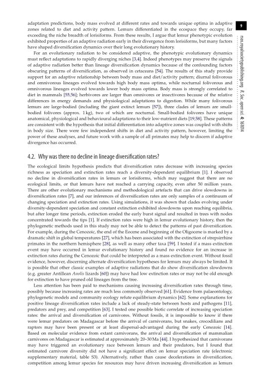 Why was there no decline in lineage diversification rates? | Page 8