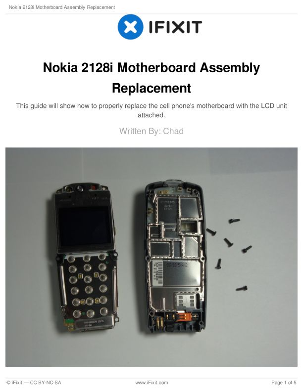 Nokia 2128i Motherboard Assembly Replacement