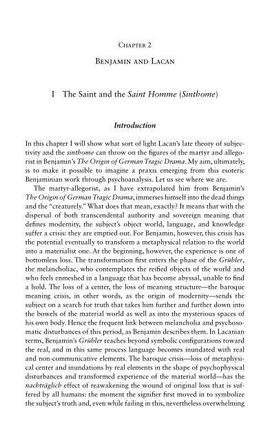 2. BENJAMIN AND LACAN | Page 5