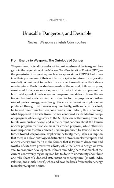 3. Unusable, Dangerous, and Desirable: Nuclear Weapons as Fetish Commodities   Page 7