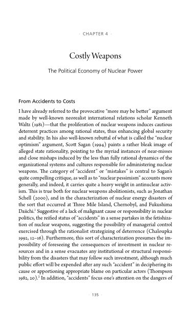 4. Costly Weapons: The Political Economy of Nuclear Power   Page 8