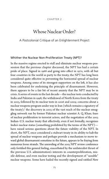 2. Whose Nuclear Order? A Postcolonial Critique of an Enlightenment Project   Page 6