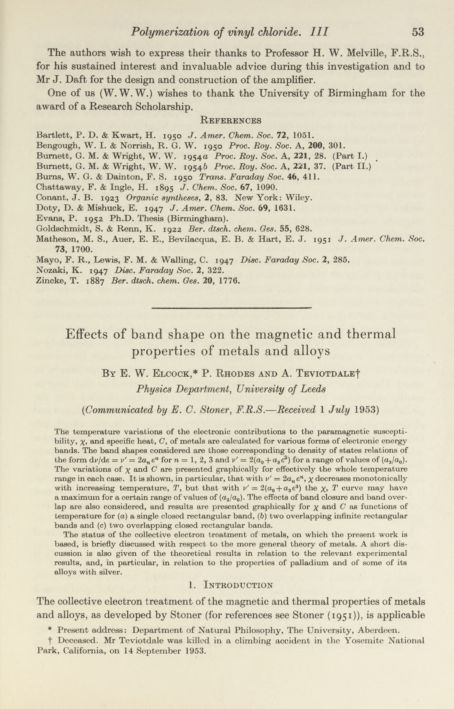 Effects of band shape on the magnetic and thermal properties of metals and alloys