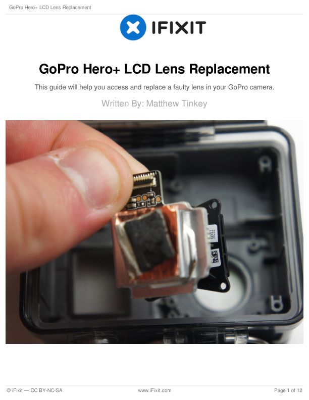 GoPro Hero+ LCD Lens Replacement