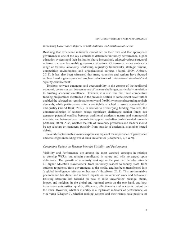 Increasing Governance Reform at both National and Institutional Levels   Page 6