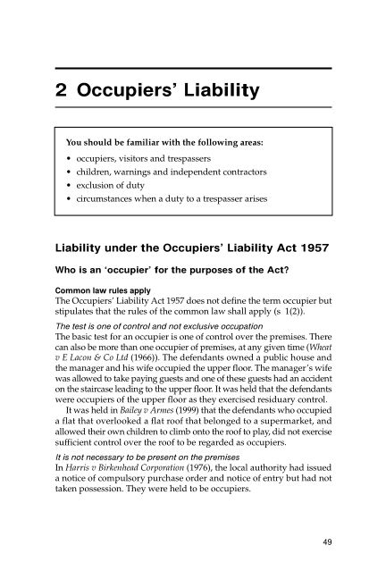 2 Occupiers' Liability | Page 6