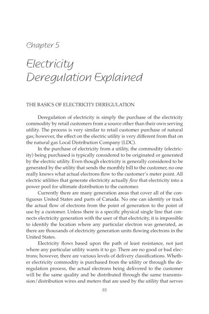 Chapter 5 Electricity Deregulation Explained | Page 8
