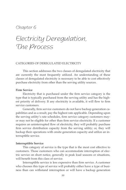 Chapter 6 Electricity Deregulation, The Process | Page 9