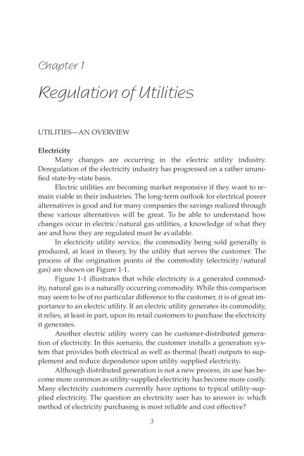 Chapter 1 Regulation of Utilities | Page 4