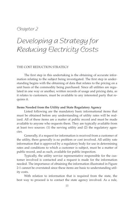 Chapter 2 Developing a Strategy for Reducing Electricity Costs | Page 5