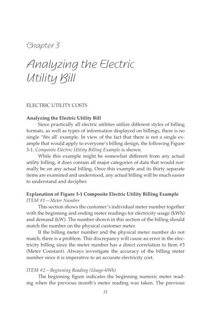 Chapter 3 Analyzing the Electric Utility Bill | Page 6