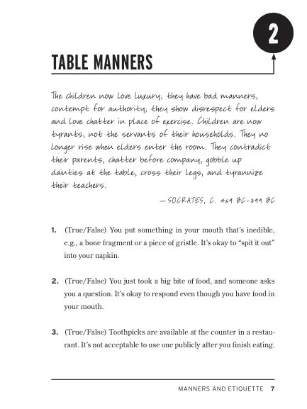 2. Table Manners | Page 8