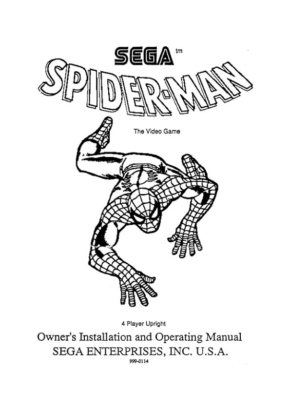Spider-Man: The Videogame - Arcade - Manual - gamesdatabase.org