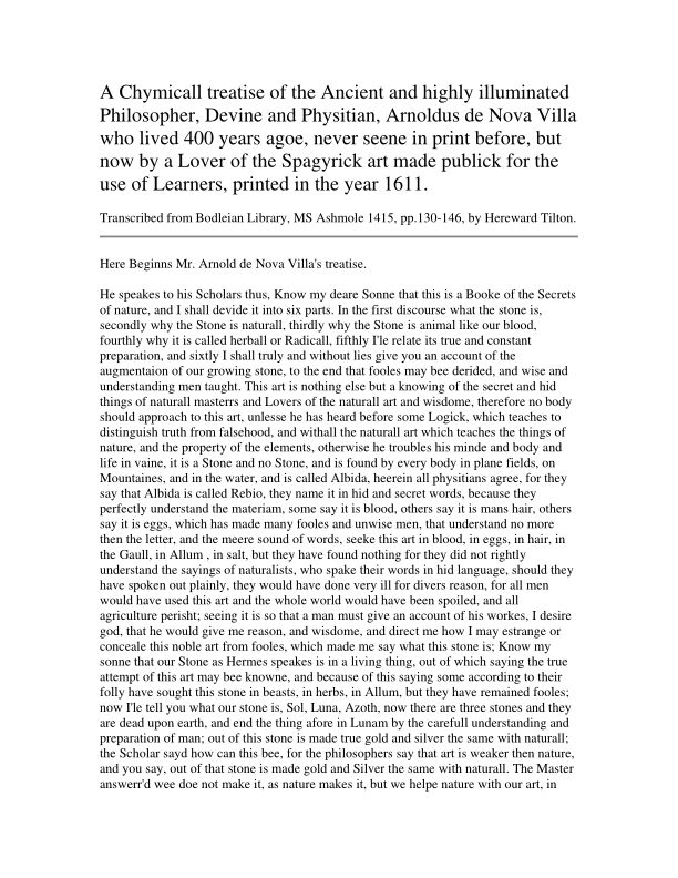 Microsoft Word - A Chymicall treatise of the Ancient and highly illuminated…