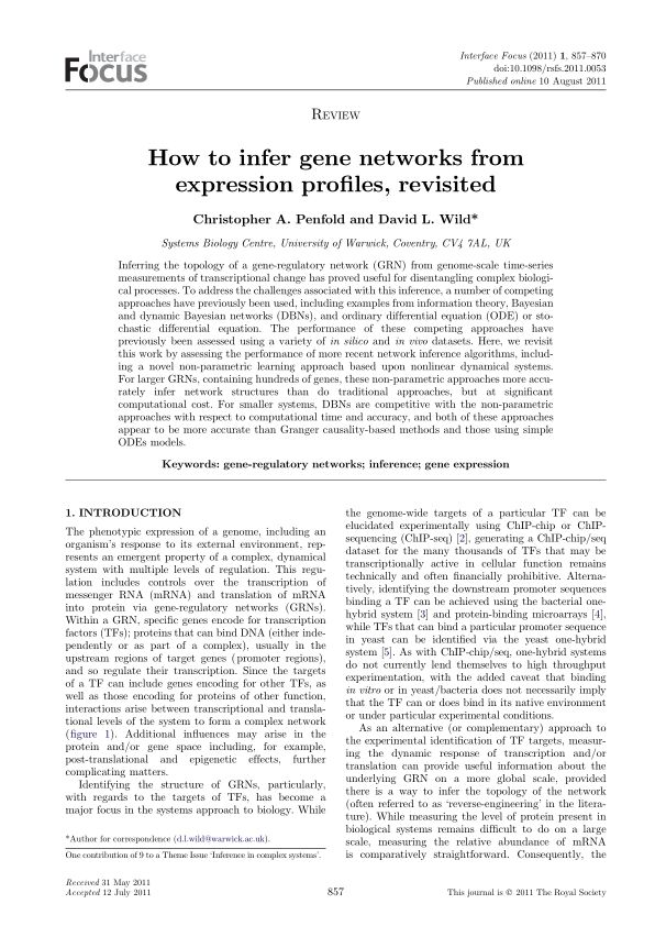 How to infer gene networks from expression profiles, revisited