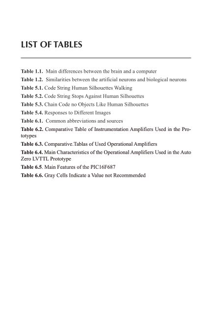List of Tables   Page 6