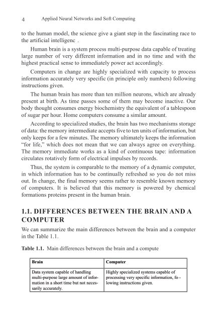 1.1. Differences Between The Brain and A Computer   Page 9