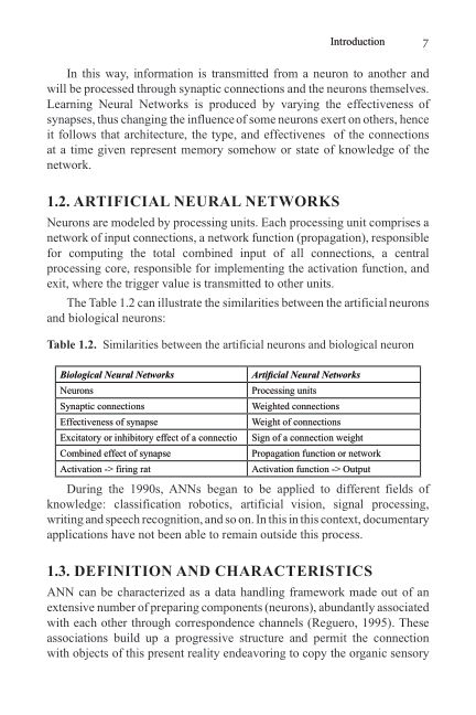 1.2. Artificial Neural Networks   Page 10