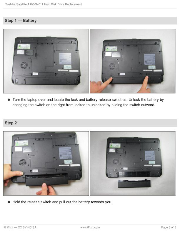 Step 1 — Battery   Page 2