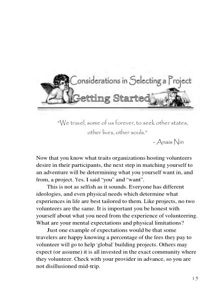 Considerations in Selecting a Project  | Page 7