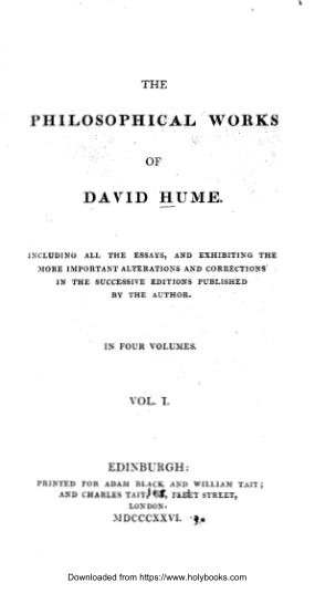 The-Philisophical-Works-of-David-Hume-Vol-I