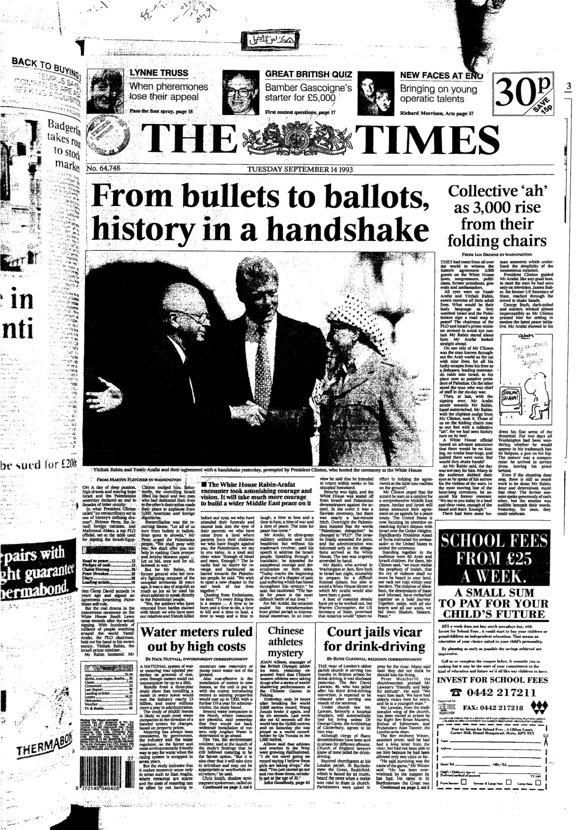 The Times Issue No. 64748. 1993-09-14, UK