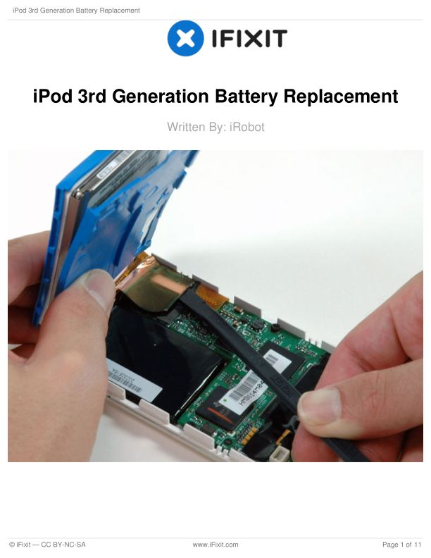 iPod 3rd Generation Battery Replacement