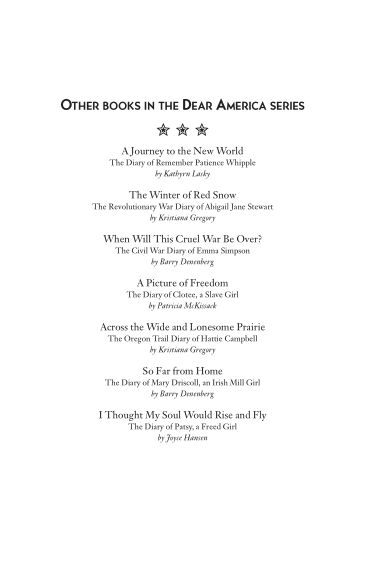 OTHER BOOKS IN THE DEAR AMERICA SERIES | Page 5