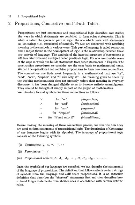 2 Propositions, Connectives and Truth Tables | Page 6