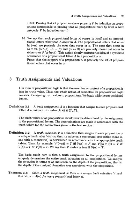 3 Truth Assignments and Valuations | Page 7