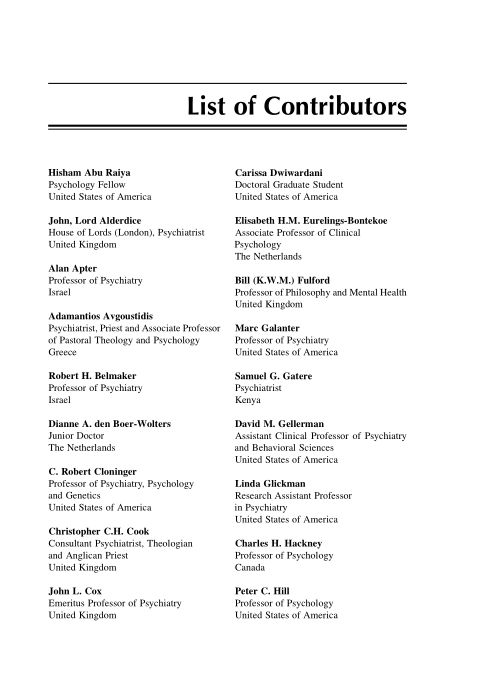List of Contributors   Page 2