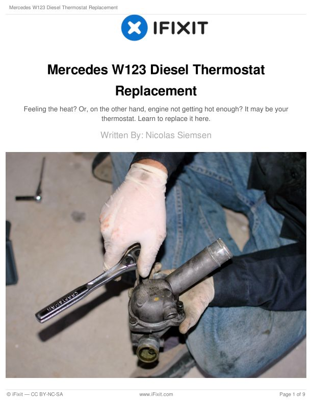 Mercedes W123 Diesel Thermostat Replacement
