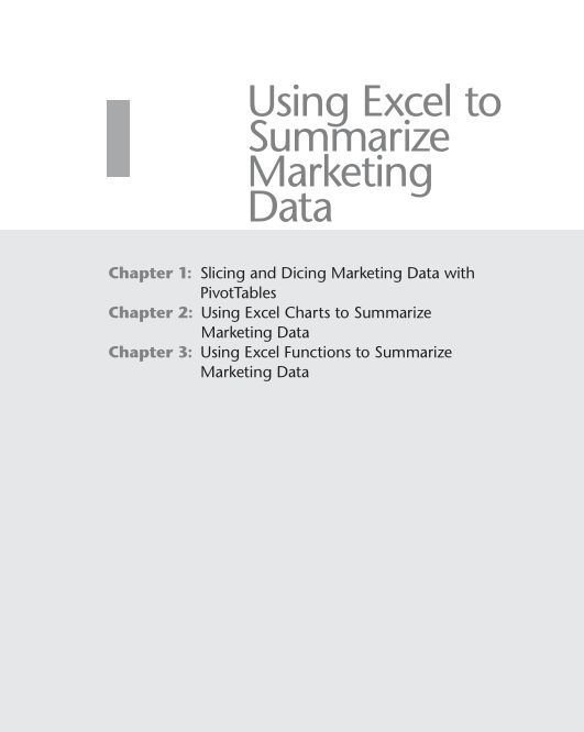 Part I Using Excel to Summarize Marketing Data | Page 5