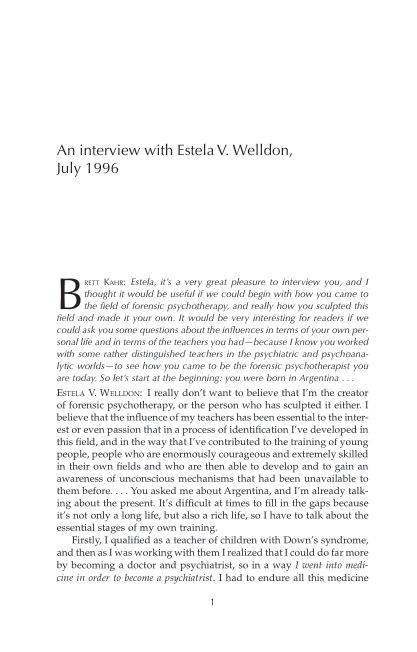 An interview with Estela V. Welldon, July 1996 | Page 7