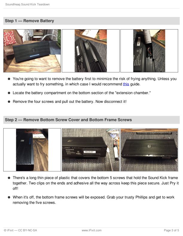Step 1 — Remove Battery | Page 2