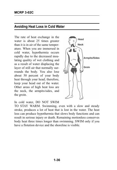 Avioding Heat Loss in Cold Water   Page 9