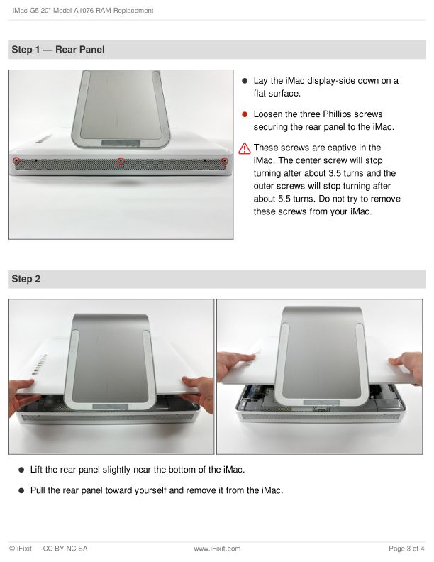 Step 1 — Rear Panel | Page 3