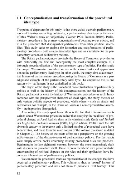 1.1 Conceptualisation and transformation of the procedural ideal type | Page 4
