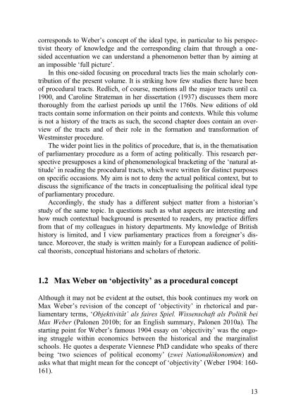 1.2 Max Weber on 'objectivity' as a procedural concept | Page 5