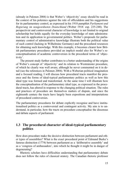 1.3 The procedural character of ideal-typical parliamentary politics | Page 6