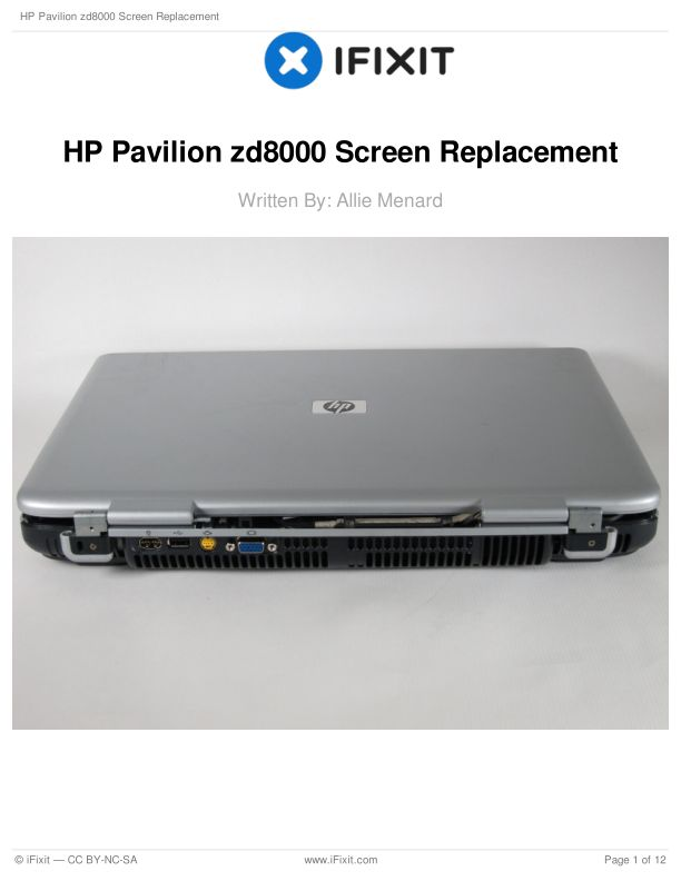 HP Pavilion zd8000 Screen Replacement
